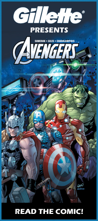 GILLETTE PRESENTS THE AVENGERS